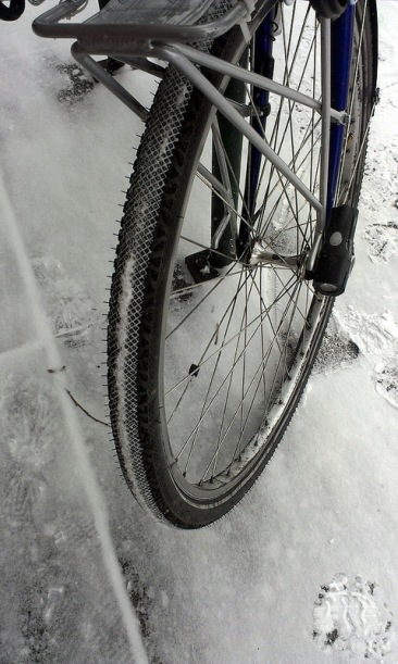 Snow on the tires.