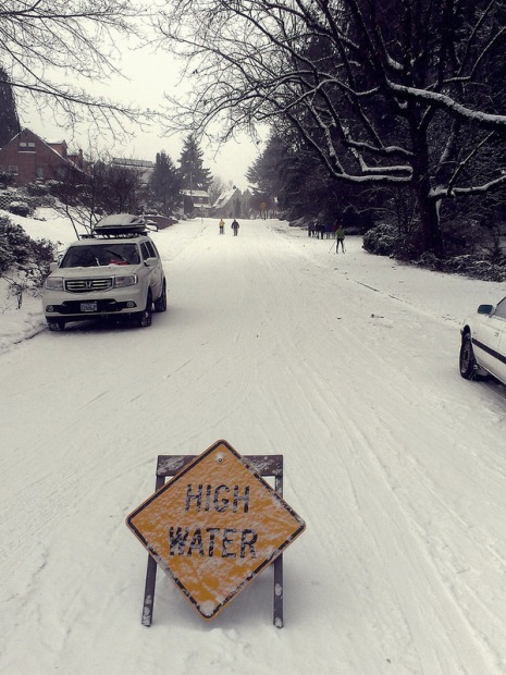 High water, indeed.