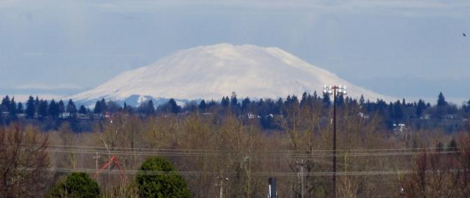 Mount Saint Helens in snowy glory.