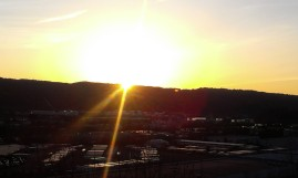 Sun sets over the West Hills.