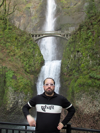 Nate at Multnomah Falls.