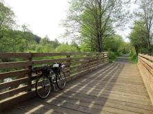 Bridgestone XO-3 on bridge over Dairy Creek, Banks-Vernonia Trail