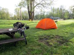 My campsite, Anderson Park.