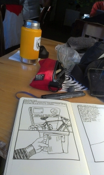 Drawering and coffee.