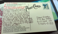Postcard report.