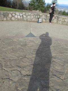 Human sundial.