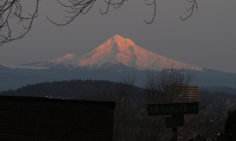 Mt. Hood at sunset.