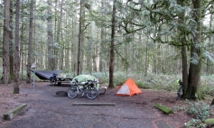 The campsite in the AM.