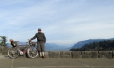 Self Portrait #4: With Bike and Crown Point.