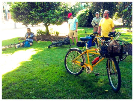 Heavy Duti Ride: Waiting in the shade