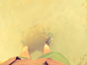 Sandy waters.