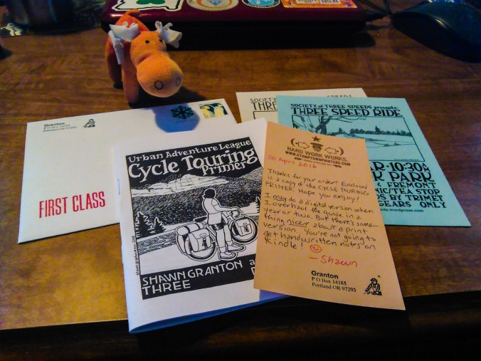 """moosemoose realizes that yes, it'd be """"easier and quicker"""" to have a zine in digital format. But we are old school around here. Plus, you can't get the personal touch, like handwritten notes or old flyers, via the ones and zeroes. So consider purchasing a"""