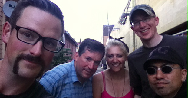"Yeah, I ""grabbed"" this pic from the Sprocket Podcast, sorry guys. From L to R: Brock (host), yours truly, Madi, Rob, Aaron (host)"