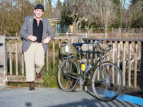 Me and the Raleigh Superbe at Westmoreland Park.
