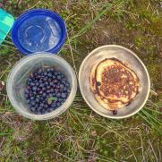 A breakfast of huckleberry pancakes